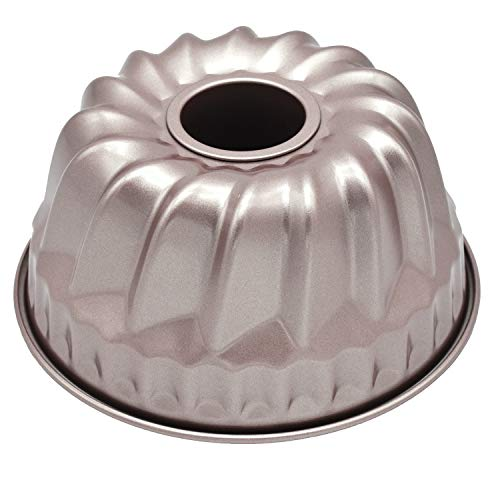 Bundt Pan for Instant Pot 7 inch Kugelhopf Mold Flute Baking Pans Flan Pan Nonstick 1 Quart Cake Moulds Gold ()