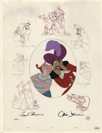captain hook mr smee animation art disney limited editions