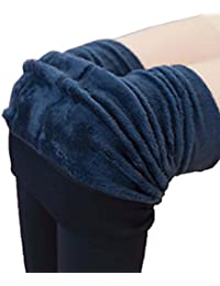 Women Winter Thick Warm Fleece Lined Thermal Stretchy Leggings Pants Full Length Stockings