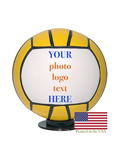 Custom Personalized Water Polo Ball - Full Sized 12 Inch Regulation Ball - Ships in 3 Business Days, High Resolution Photos, Logos & Text on Balls - for Trophies, Personalized Gifts