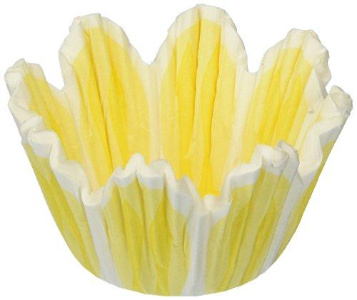 Jubilee Sweet Arts 60 Count Spring Flower Tulip Muffin Cupcake Baking Cups, Mini
