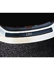 Car Carbon Trunk Achterhoedebeschermer met Logo Sticker Cover, Anti-kras Auto Threshold Guard Stickers, voor Hyundai I20
