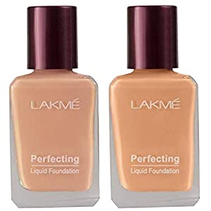 Lakmé Perfecting Liquid Foundation, Coral, 27ml And Lakmé Perfecting Liquid Foundation, Shell, 27ml