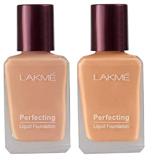 Lakmé Perfecting Liquid Foundation, Coral, 27ml And Lakmé Perfecting Liquid Foundation, Shell, 27ml 2021 July Product 1: Vitamin E and silicone Product 1: Water resistant Product 1: Blends effortlessly