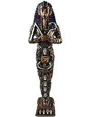 الملك الفرعوني توت عنخ آمون - صناعة يدوية مصرية من البورسيلين - نحاسي