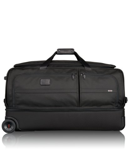 Tumi Alpha 2 Large Wheeled Split Duffel, Black, One Size - Tumi Duffle Bag