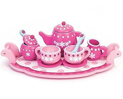 Childrens Wooden Play Food Set, Tea Set! Wood Play Food Tea Set