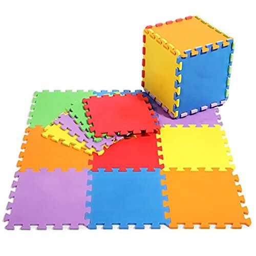 40 SQ FT / 3.68M² / 36 Piece Interlocking Soft Kids Baby EVA Foam Activity Play Mat Floor Tiles *SALE* Shamz