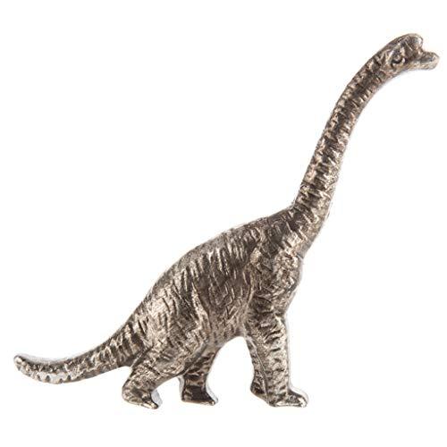 (Dinosaur Silver Brachiosaurus Metal Drawer Knob)