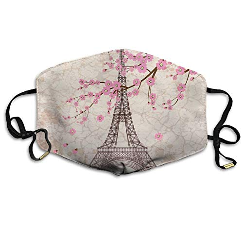 Boys Face Mask Anti-Dust Respirator Gift Eiffel Tower Anti-Dust Flu Pollenm Germs Bacteria Virus Smog Face Nose Mask Reusable
