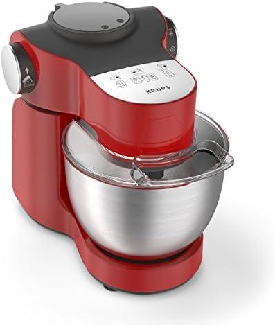 Krups ka2535 Robot de cocina Master Perfect Plus, 4 L, 700 W, incluye accesorios, acero inoxidable/rojo: Amazon.es: Hogar