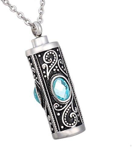 HooAMI Cremation Necklace Keepsake Stainless