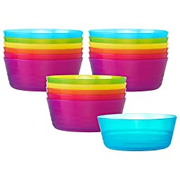 Ikea Kalas 301.929.60 BPA-Free Bowl, Assorted Colors, Set of 3, 6-Pack