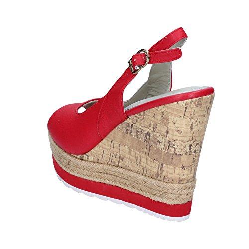 Apepazza Sandalias de Vestir de Piel Para Mujer Rojo Rojo