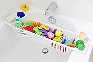 Bath Toy Organizer & Bathtub Storage Basket