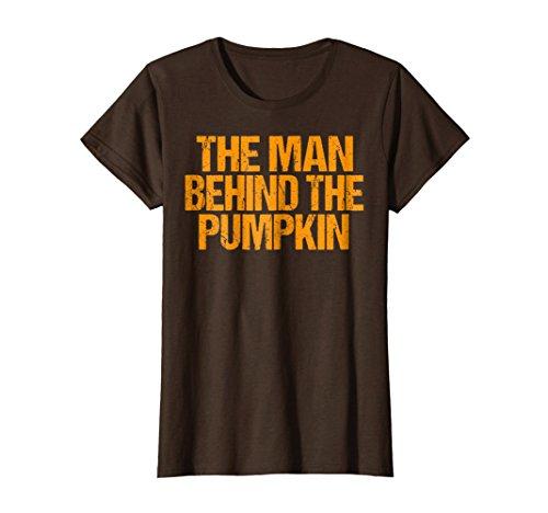 Man Behind The Pumpkin T Shirt Halloween Pregnancy Dad