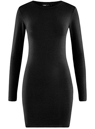 Basique oodji Robe Tricote Femme 2900n Collection Noir 1IrqI4gR