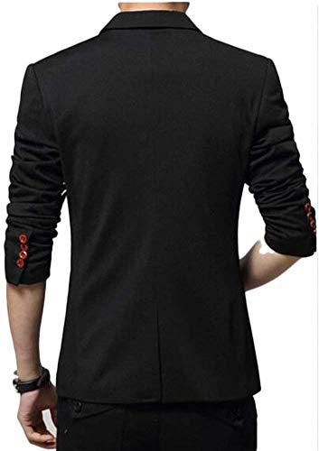 Modern Slim D'affaires Jacket Homme Fit Bouton Et Moderne Haidean Schwarz Loisirs Élégant 1 De Casua Blazer Sporty xwqSTtCpH
