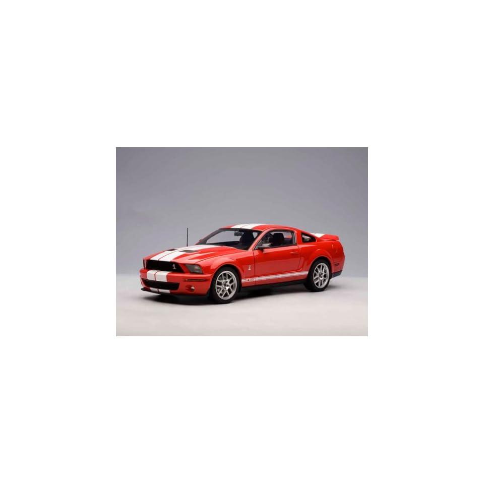 Ford Shelby Cobra GT 500 1/18 Red w/ White Stripes
