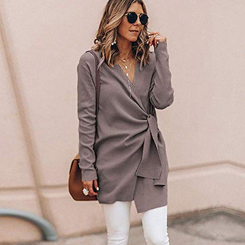 femmes taille survêtement M Outwear veste en Open cuir manteau en décontracté Kaki col Lace Parka V Zhrui Couleur aT5pxwqtw