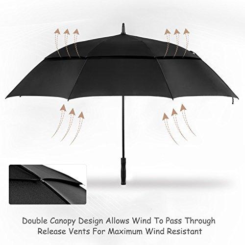 Oak Leaf 68 Inch Large Golf Umbrella Windproof Lightweight Sun Rain Umbrella by Oak Leaf (Image #5)