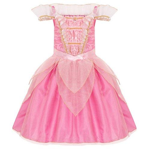 Disney Store Deluxe Aurora Sleeping Beauty Costume Heart Shaped Jewel (L Large 10)