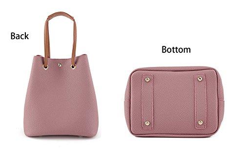 Khaki Tote Retro Simple with Shoulder Clutch Bags Micom Bucket Handbag Wallet Leather Pu qO6xpn7w