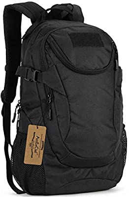 ArcEnCiel Water-Resistant Military Backpack Rucksack Gear Tactical Assault Pack Student School Bag Hunting Camping Trekking Travelling -Rain Cover Included