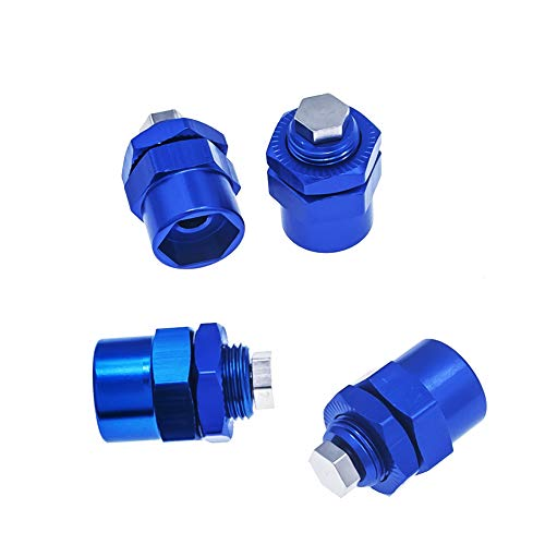 4pcs Aluminum 12mm to 17mm Hex Wheel Hub Adapters for 1//10 RC Car Upgrade 1//8 Tires Navy Blue