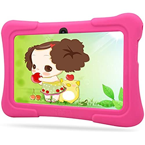 Dragon Touch Kids Tablet 7 Quad Core, WiFi, Games, 8GB, HD Edition, Bundle w/ Pink Silicone Case Coupons