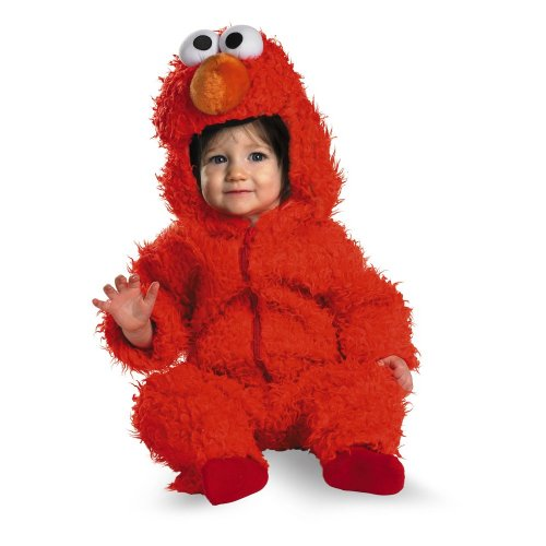 Elmo Infant Plush Halloween Costume, Red, 12-18 (Unique Halloween Costumes For Toddler Boy)