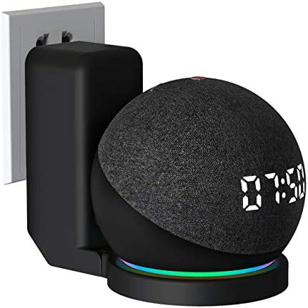 OKX Wall Mount Hanger for Echo Dot 4th Generation Smart Speaker Space Saving Wall Bracket Compatible with Dot 4th Gen