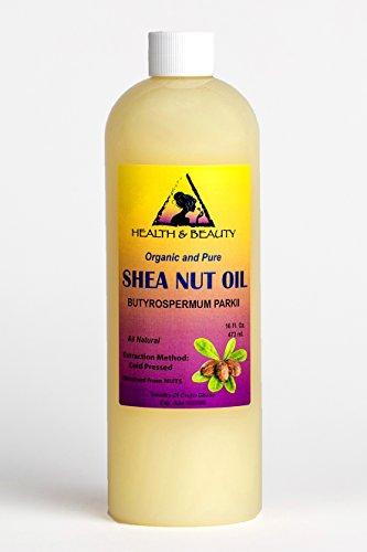 Shea Nut Oil Organic African Karite Oil Carrier Cold Pressed Premium Fresh 100% Pure 16 oz