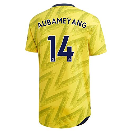 AUBAMEYANG 14 Arsenal Away 2019 2020 Soccer Jersey Color Yellow Size S