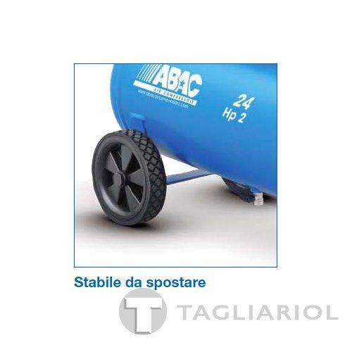 ABAC COMPRESSORE POLE POSITION L20P SERBATOIO 24L MOTORE 2HP ARIA COMPRESSA