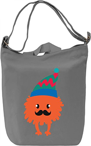 Moustache monster Borsa Giornaliera Canvas Canvas Day Bag| 100% Premium Cotton Canvas| DTG Printing|