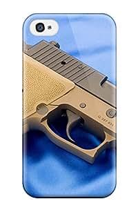 Excellent Design Gun Phone Case For Iphone 4/4s Premium Tpu Case