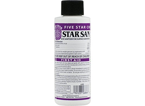 Five Star - Star San - 4 Ounce - High Foaming Sanitizer