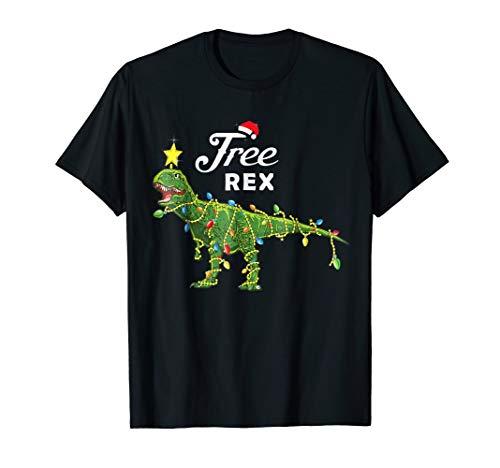 Dinosaur Christmas Shirt Tree Rex Boys Kids Men Pajamas ()