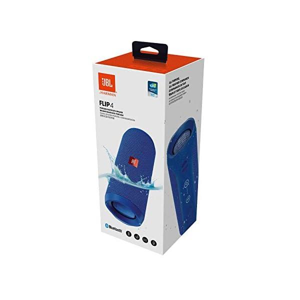 JBL Flip 4 - enceinte Bluetooth Portable Robuste - Étanche Ipx7 pour Piscine & Plage - Autonomie 12 Hrs - Qualité Audio JBL - Bleu 5