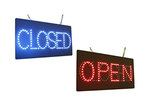 Open Closed Sign, Super Bright High Quality LED Open Sign, Store Sign, Business Sign, Windows -