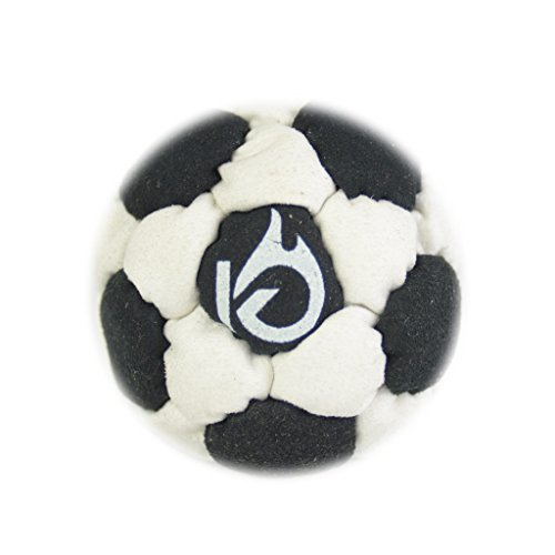 KickFire SuperSacks Night Blizzard Sand Filled Hacky Sack 16 Panel Leather Footbag | BONUS Video Quick Start Tips | Best for Kids, Teens and Adults