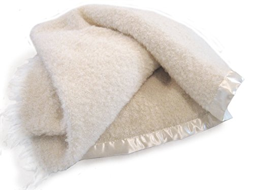Wool & Angora Mohair Blanket Baby / Toddler - Luxurious, Large, All Natural -