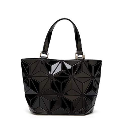 Donne 23 Fashion Capienza Daypack colore Borsa Dimensioni Pu Selvaggio Bianca Grande Delle Tracolla Di 18cm Nero RnRq1FH8