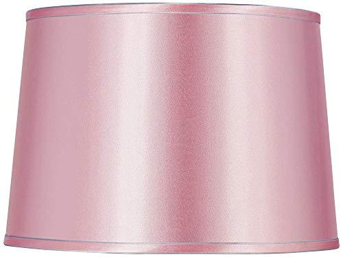 Sydnee Pale Pink Satin Drum Lamp Shade 14x16x11 (Spider) - Brentwood