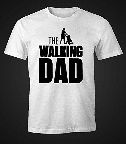 The Walking Dad Shirt Herren T-Shirt Fun Moonworks® weiß XXL