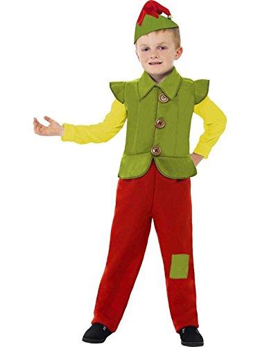 Smiffy's Big Girls' Costume Elfe Enfant Rougevertjaune Taille Medium Green/Yellow