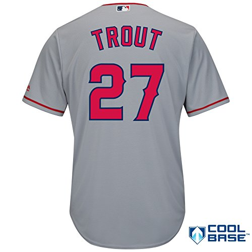 Mike-Trout-Los-Angeles-Angels-of-Anaheim-27-MLB-Mens-Cool-Base-Road-Jersey-Medium