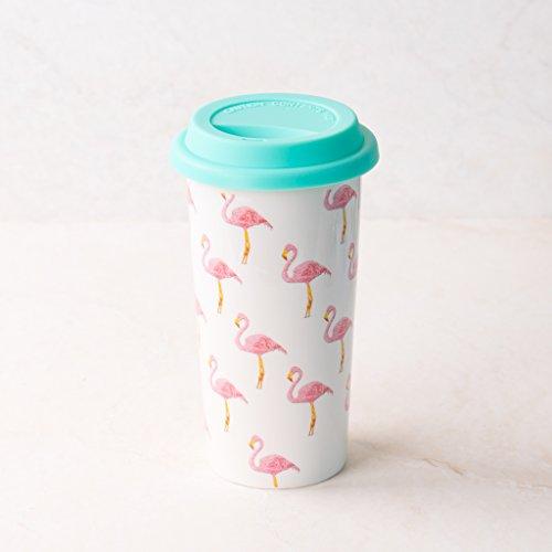 Ankit Flamingo Coffee Tumbler with lid, 12 oz, Plastic, Flamingo Theme, Microwave safe, Tumbler for Gift large coffee mugs tumbler cups travel coffee tumbler tumbler mug ceramic coffee tumbler