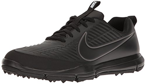 NIKE Men's Explorer 2 Golf Shoe, Black/Black/Metallic Dark Grey, 9 M US
